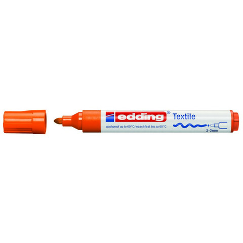 Маркер для текстиля Edding E-4500 оранжевый (толщина линии 3 мм)