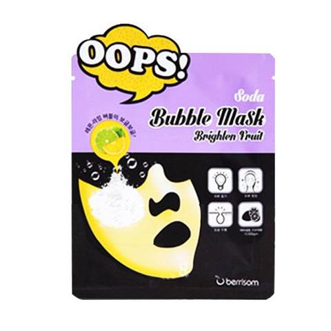Berrisom Soda Маска-пилинг для сияния кожи Soda Bubble Mask_Brighten Fruit 18мл