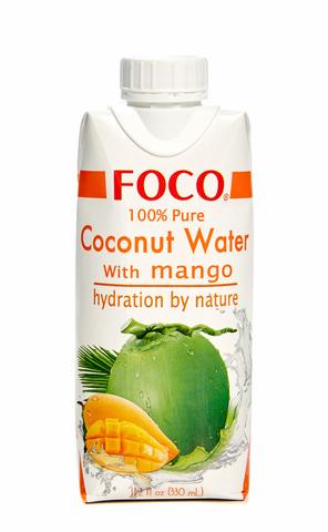 Вода кокосовая с манго Foco, 330мл