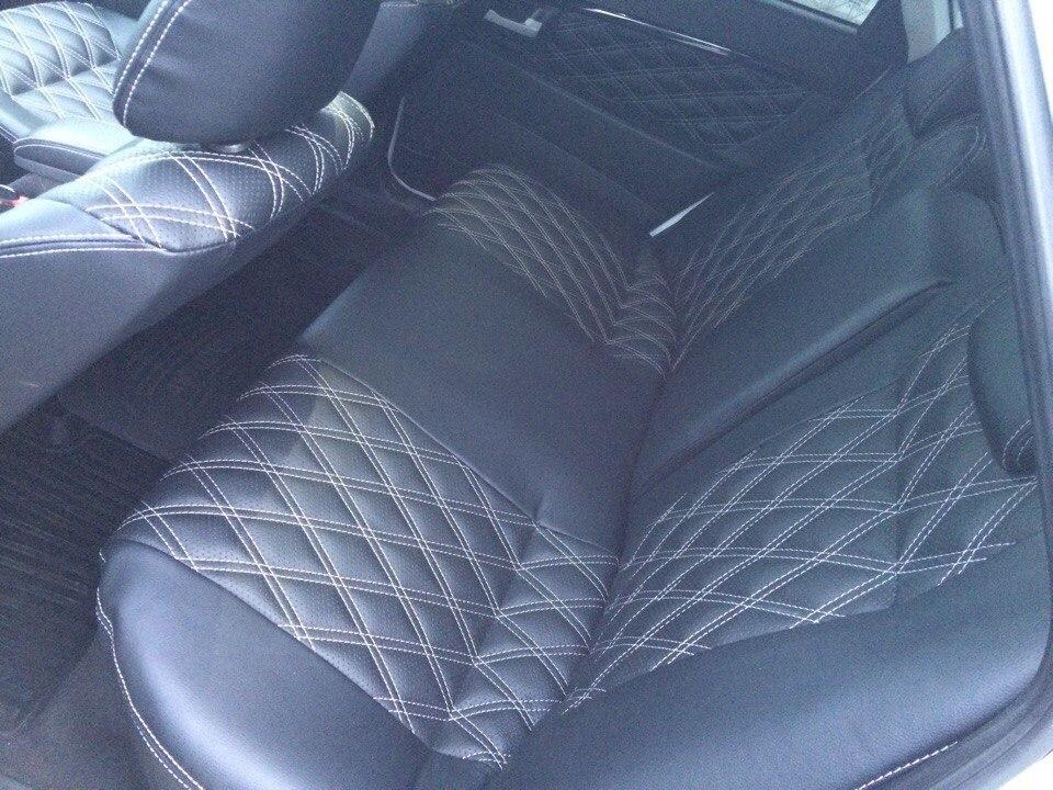 Обивки сидений на ВАЗ из экокожи, двойной ромб 5см