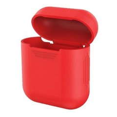 Чехол на AirPods (красный) силиконовый