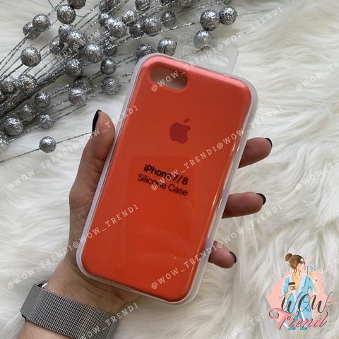 Чехол iPhone 7/8 Silicone Case /orange/ оранжевый 1:1