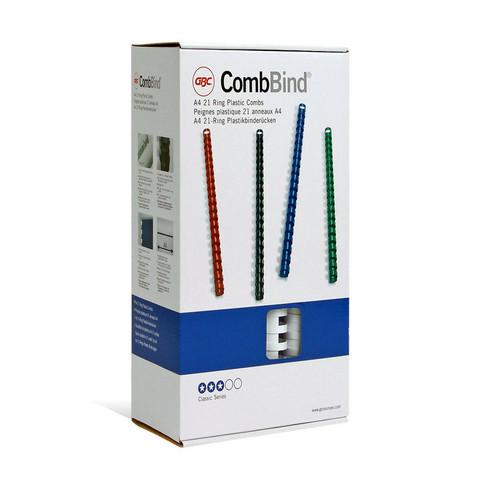 Пружины для переплета пластиковые GBC 14 мм белые (100 штук в упаковке)
