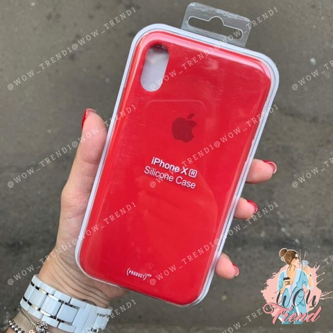 Чехол iPhone XR Silicone Case (product) /red/