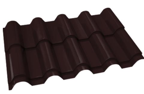 Металлочерепица Банга Полиэстер RAL 8017 Шоколад