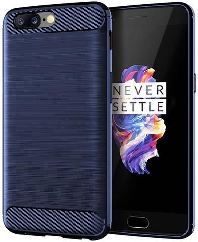 Чехол OnePlus 5 цвет Blue (синий), серия Carbon, Caseport