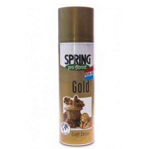 Краска-спрей SPRING (объем:300мл) Цвет: золотой