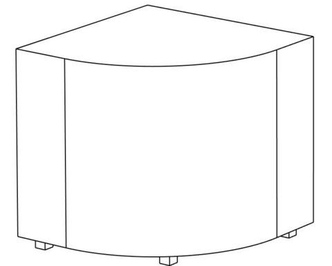 Пф-04 Пуфик угловой (белый) для дома и магазина