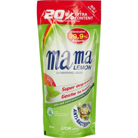 Средство для мытья посуды с антибактериальным эффектом Mama Lemon c ароматом зеленого чая 600 мл