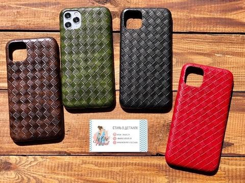 Чехол iPhone 11 Pro Leather Bottega case