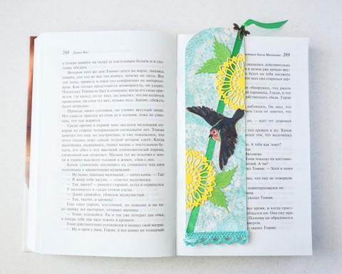 """Закладка для книги """"Парящая птичка"""""""