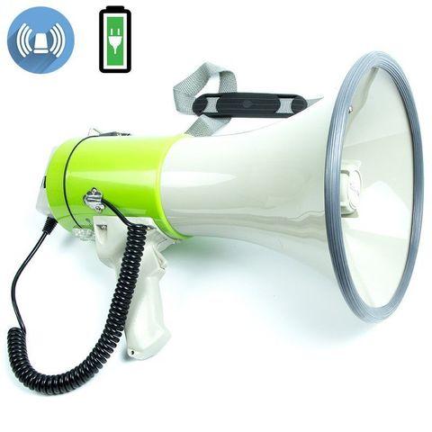 ЭМ-25са ручной мегафон 25Вт (50Вт), выносной микрофон, сирена, Li аккумулятор, разъем 12В