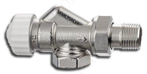 Клапан термостатический Calypso exact осевой с преднастройкой 1/2