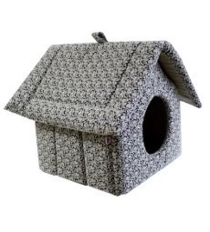 ZooExpress дом изба на молнии мебельная ткань №2 44*40*44 см