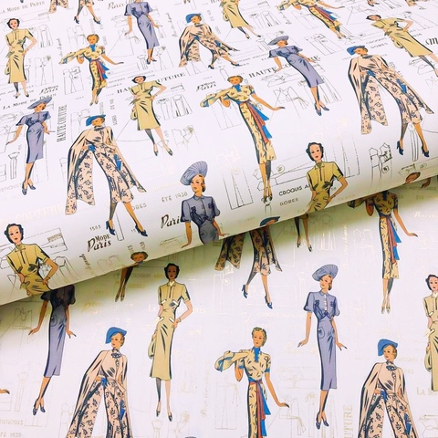 Бумага декоративная подарочная Мода 30-х годов