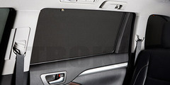 Каркасные автошторки на магнитах для Daewoo Gentra 1 (2005-2011) Хетчбек. Комплект на задние двери