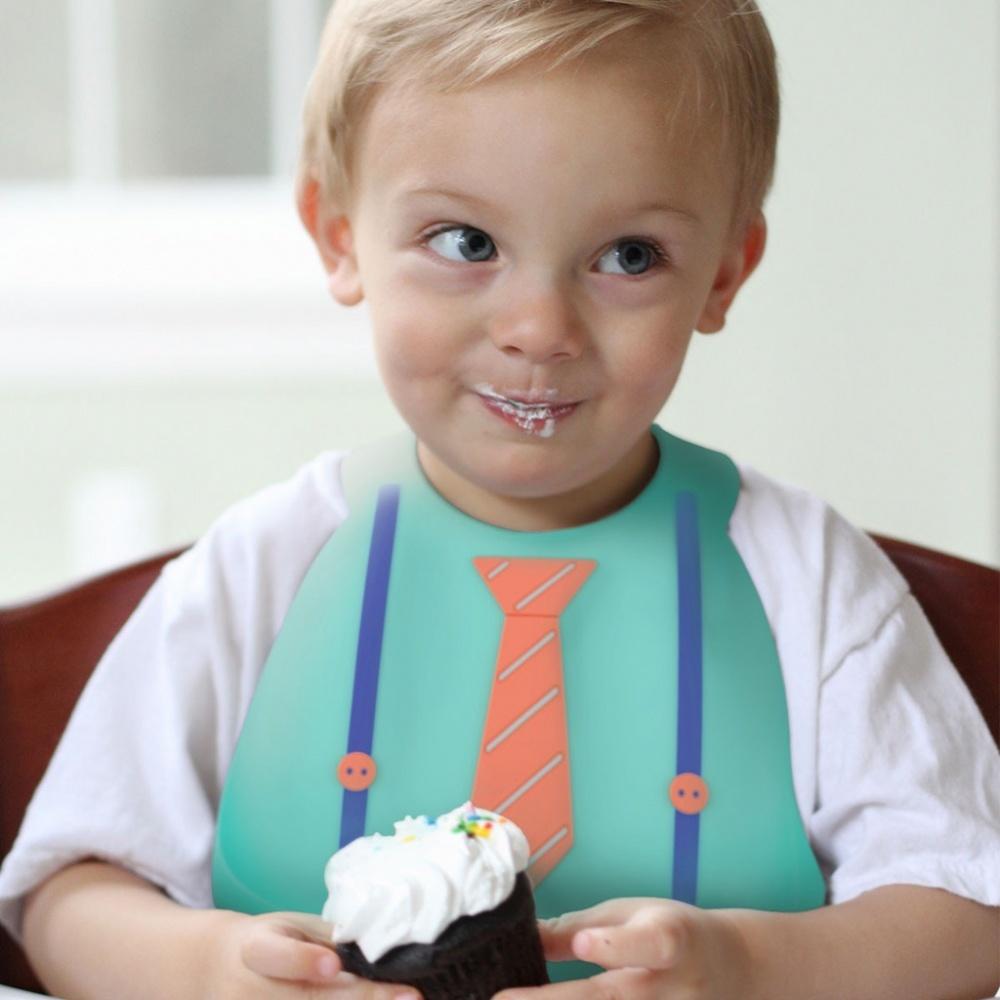 Make My Day Детский нагрудник, светло-зеленый Tie & Suspender