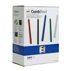Пружины для переплета пластиковые GBC 32 мм белые (50 штук в упаковке)