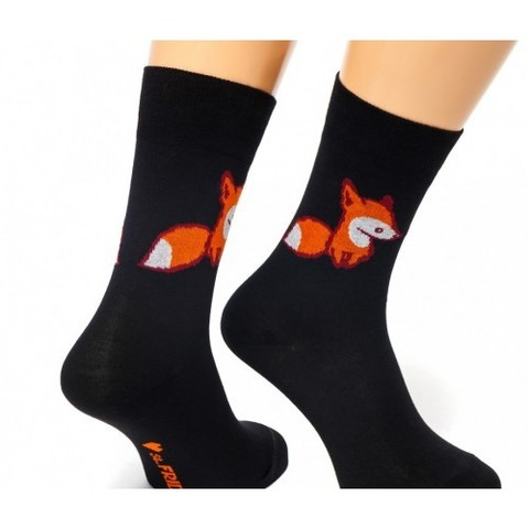 St.Friday Socks Fox & Friday черные