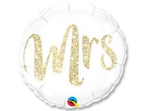 Фольгированный шар MRS глиттер золото