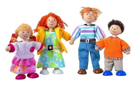 Деревянный игрушечный набор Кукольная семья