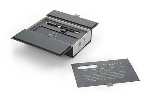 Перьевая ручка Parker Duofold Prestige Centennial Blue Chevron GT123