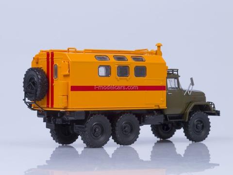 ZIL-131 kung MTO-AT mobile workshop khaki-orange 1:43 AutoHistory