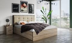 Кровать с мягкой спинкой Лирика ЛК-2 на 1400