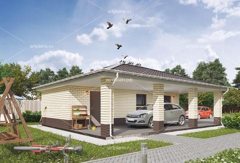 Проект гаража на 2 машины с хозблоком и навесом