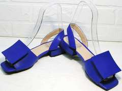 Стильные босоножки на каблуке 2 см Amy Michelle 2634 Ultra Blue.