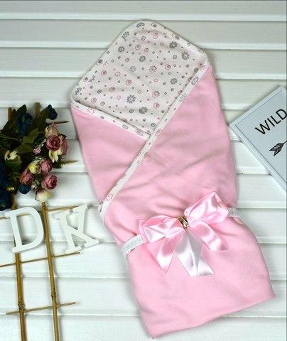 Летний конверт на выписку из роддома Little Baby розовый