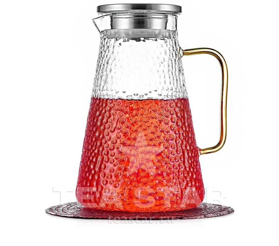 "Чайники заварочные стеклянные Заварочный чайник-кувшин ""Атлант"" 1,5 л с желтой ручкой, стеклянный chaynik_zavarochniy_kuvshin_1200ml.jpg"