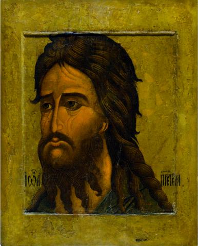 Икона святой Иоанн Предтеча и Креститель (оплечный) на дереве на левкасе мастерская Иконный Дом