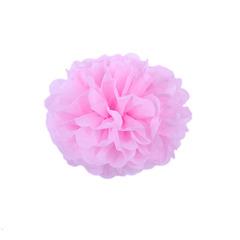 Помпон из бумаги 20 см розовый
