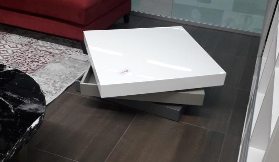 Стол журнальный СT1001 Белый/Серый