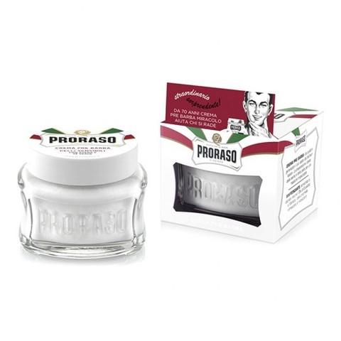Крем до бритья (прешейв) Proraso белый,зеленый чай