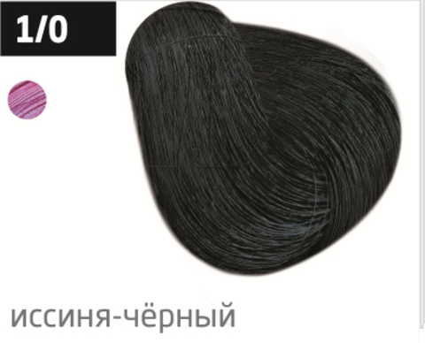 OLLIN color 1/0 иссиня-черный 60мл перманентная крем-краска для волос