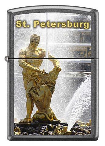 Зажигалка Zippo Петергоф, с покрытием Gray Dusk , латунь/сталь, серая, матовая, 36x12x56 мм123