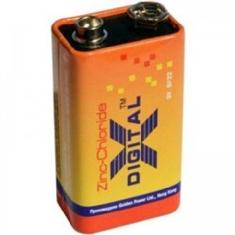 Батарейки X-Digital 6F22, 9V крона (1/10/500)