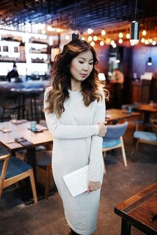 Платье Ника с секретом для кормления бежевое с люрексом