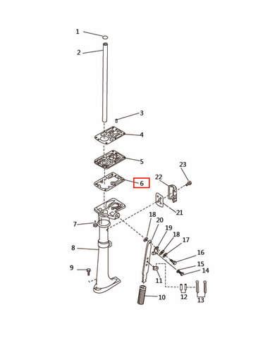 Прокладка дейдвуда  для лодочного мотора T2,5 SEA-PRO (7-6)