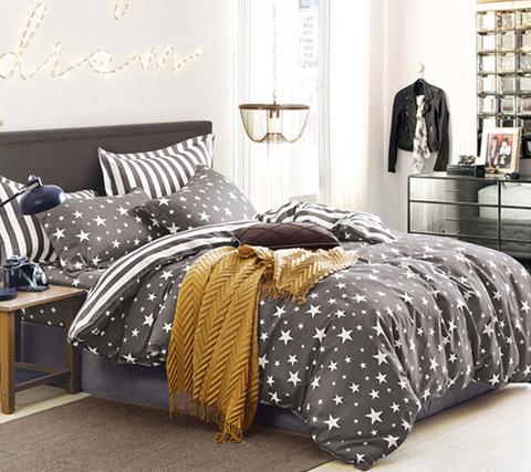 Евро постельное белье со звездами сатин-твил TPIG6-408