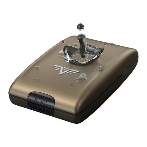 Кошелек c защитой Tru Virtu Oyster 2, лиловый, 110x69x28 мм