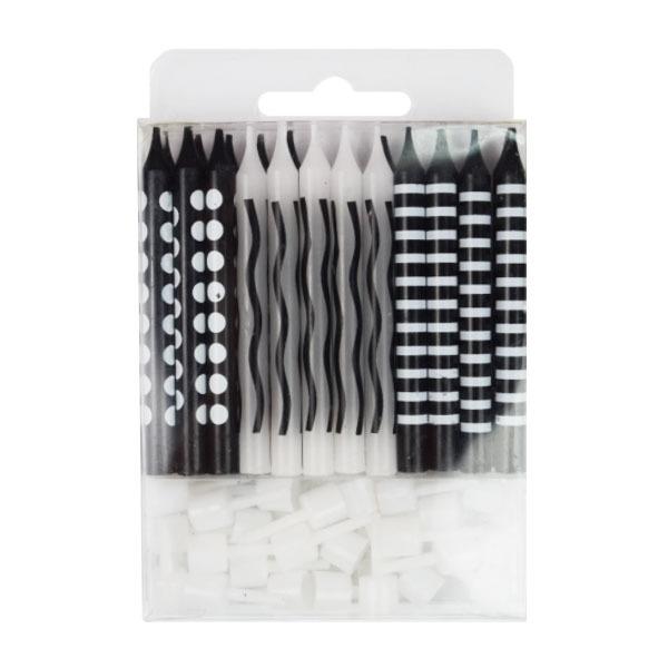 Свечи для торта Свечи для торта Черные ассорти 24 шт 6057985.jpg