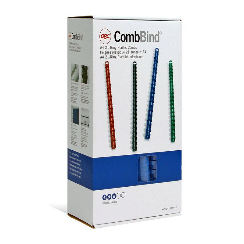 Пружины для переплета пластиковые GBC 12 мм синие (100 штук в упаковке)