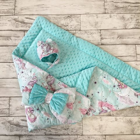 Одеяло-конверт на выписку для новорожденного 3пр.