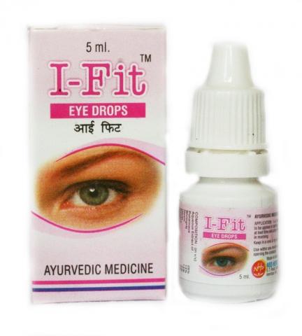 Натуральные глазные капли АЙ ФИТ I-Fit eye drops/ Упаковка: 5 мл
