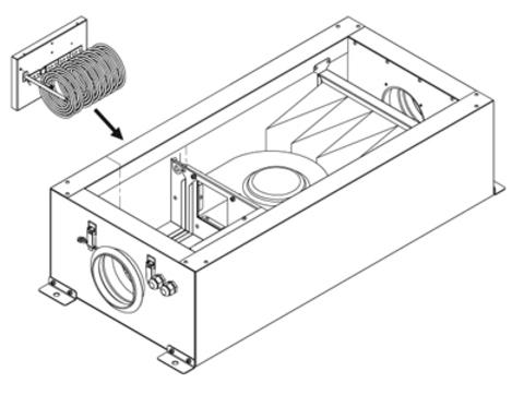 Вентиляционный вентиляторный блок CAUF 800 VIM