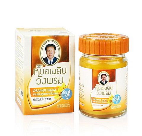 Согревающий тайский оранжевый бальзам, WANGPROM HERB. 50 мл.