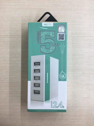 Переходник Hub Remax 5 Ports USB Charger RU-U1 (max output 2.4A) /white blue/